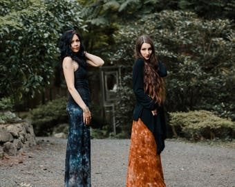 Ixchel Organic Flow Pants - Bamboo Pants - Gypsy Lounge Pants - Hand Dyed Pants - Organic Bamboo Jersey Pants - Boho Pants - Hippie Pants