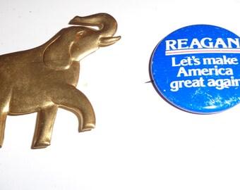 elephant or reagan button make america great again