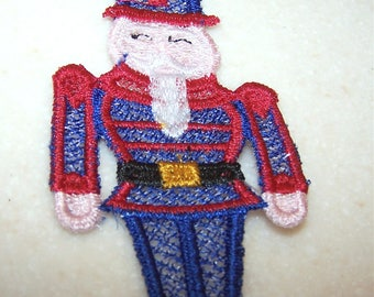 Nutcracker Christmas ornament machine embroidery