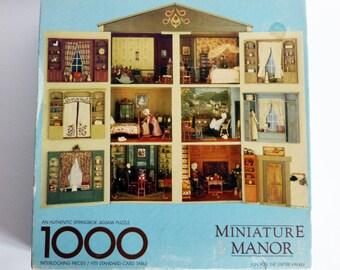 Vintage Springbok Jigsaw Puzzle Miniature Manor Dollhouse 500 Pieces