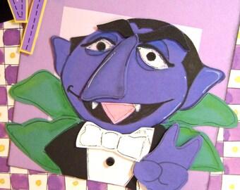 Count Dracula Sesame Street Premade Paper Piecing