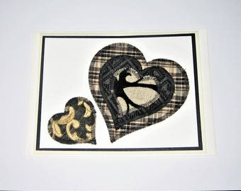 Greeting Card Quilted Hearts