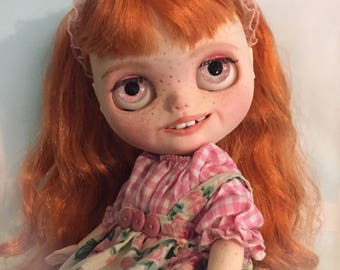 Sale ! Blythe Doll Customized Chubby custom made Art Doll One of a Kind