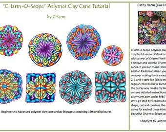 CHarm-O-Scope polymer clay cane tutorial by CHarm