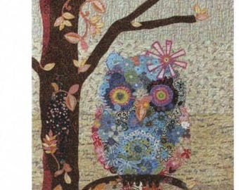Cora common owl collage pattern