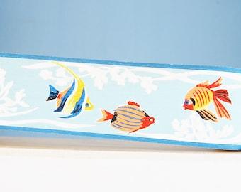 Vintage 1950s Fish Wall Paper Trim Tropical Trimz 2022 Colorful Seaweed Retro Bathroom NOS Supplies