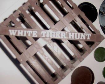 G I Joe- Hasbro GI Joe - White Tiger Cage with CampFire Piece -Pots Pans - Shovel - Canteen