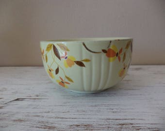 Vintage Halls Superior Autumn Leaf Dinnerware by Mary Dunbar for Jewel Tea, small mixing or serving bowl