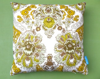 "decorative cushion 20x20"" (50x50cm) / 60s 70s vintage fabric / pillow cover  / retro / handmade in Amsterdam / home decor"