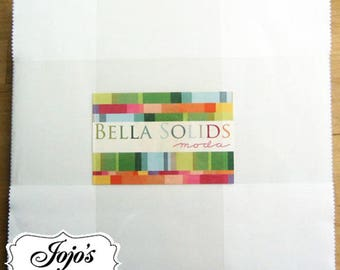 Bella Solids Layer Cake White by Moda Fabrics SKU 9900LC 98