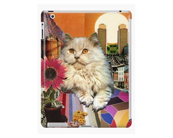 Leo iPad Snap-on Protective Hard Case - Zodiac Astrology Collage Art - July August Birthday Gift for the Cat Lover