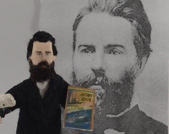 Herman Melville American Author Collectible Figure Art Miniature Moby Dick