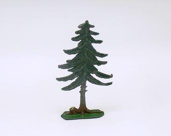 Antique Miniature Metal Tree Flachfiguren Germany Christmas Village Railroad