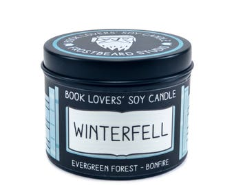 Winterfell - 4 oz Book Lovers' Soy Candle -  Book Lover Gift - Scented Soy Candle - Frostbeard Studio