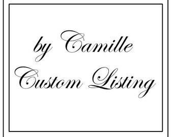 "Custom Listing for kilo2626 - Red Crochet Rug Lacy 36"""