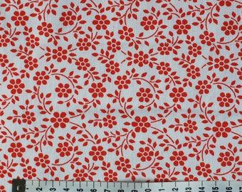 Seventies vintage floral fabric - 120x25 cm.