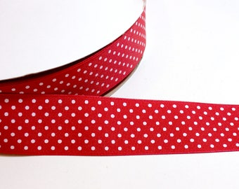 Red Ribbon, Red Congetti Dot Grosgrain Ribbon 1 1/2 inches wide x 10 yards, Schiff Ribbon