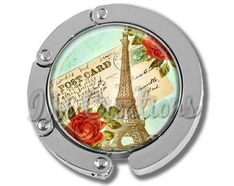 NEW just for this holiday season!! Foldable Bag Purse Hook - Romance in Paris FHK185