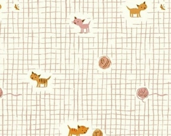 ON SALE Heather Ross Tiger Lily Kittens Pink