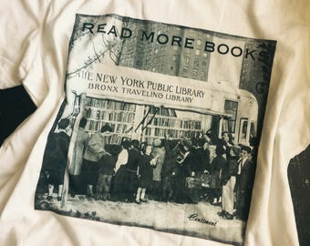 Read more books~ teacher ~ librarian ~ super soft 100% cotton t shirt ~ bibliophile