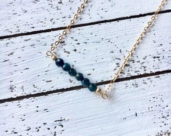 Mini TigerEye Bar Necklace