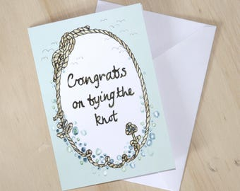 Congrats on tying the knot - greetings card