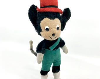 Vintage Schuco Germany Li'l Wolf der Kleine Character 1959 Bendy Doll Mohair Plush Son of Big Bad Bigo Bello 17 cm 7 inches tall Disney
