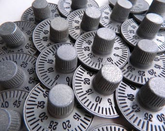 Set of 24 Post Office Box Numbered Dial Knobs