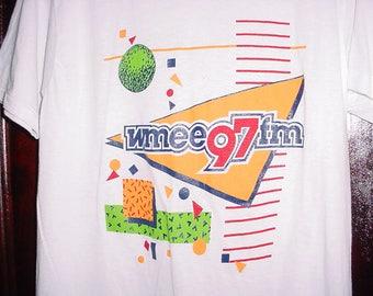 Vintage 80s WMEE Radio Station Promo TShirt M White