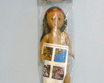 Native American Music Box Style Doll Fibre Craft 3045 13 inches