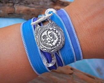 Eclipse Jewelry, Eclipse Wrap Bracelet, Solar Eclipse Bracelet, Eclipse Bracelet, Solar Eclipse, Sun & Moon Jewelry