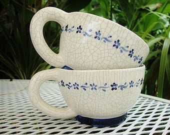 dedham pottery tea cups potting shed replacement teacup