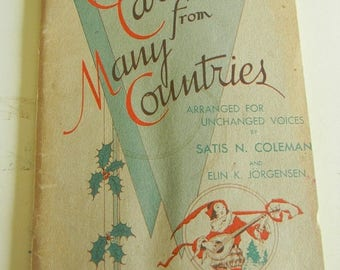 Close Out Sale Vintage Christmas Carols from Many Countries Copyright 1934