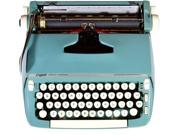 Smith Corona Super Sterling Typewriter with Case