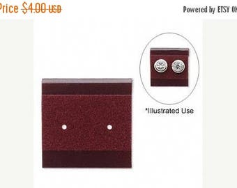 STOREWIDE SALE 50 Pack Burgundy Velour 1x1 Inch Hanging Plastic Earring Cards