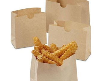 New Years Sale 50 Pack Kraft Food Snack Bags Eco Friendly 3 sizes to choose from