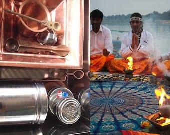 Vedic Fire Ritual 5 piece Copper Kit plus ebook