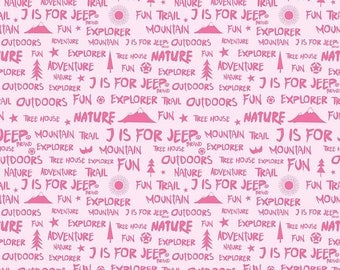 J Is For Jeep - Words Pink C6464