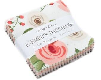 Farmers Daughter (5050MC) by Lella Boutique - Mini Charm Pack