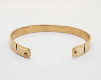 Ladies Bronze Cuff, Initial Bracelet, Mother's Day Gift, 8th Anniversary Gift