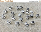 ON SALE Crimp Covers Silver Plated Crimps 5mm for Crimp Beads or Tubes 20 pcs F415