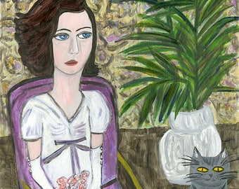 The reluctant debutante.  Original oil painting by Vivienne Strauss.
