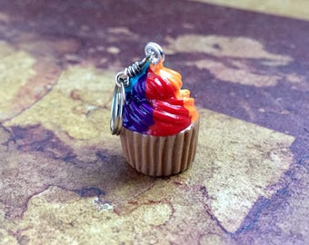 SALE Sweet n' Proud: Handsculpted Cupcakes with Rainbow Swirl Frosting for Knitters and Crocheters