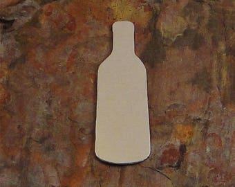 "20 Deburred 2"" WINE BOTTLE *Choose Your Metal* Aluminum Brass Bronze Copper Nickel Stamping Blanks Finished Enameling Vino Vineyard"