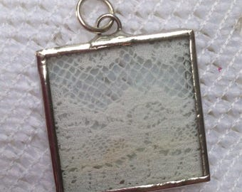 Glass and Lace Pendant