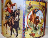 NEW 16 X 16 Colorful Cowgirl, Western Decor, Lamp Shade