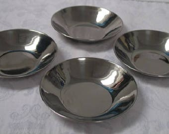 Vintage Stainless Steel Small Serving Dishes