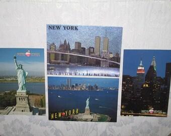 Set of 4 New York Photo Postcards