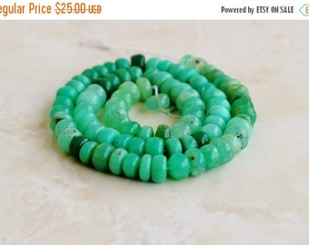 Deep Discount Sale Outstanding Green Chrysoprase Gemstone Smooth Rondelle 5.5mm 50 beads 1/2 strand