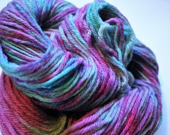 Bubblegum.  Handpainted Wool Yarn Worsted Weight